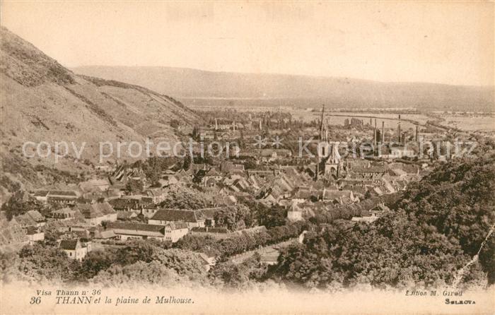 AK / Ansichtskarte Thann Haut Rhin Elsass et la plaine de Mulhouse Kat. Thann