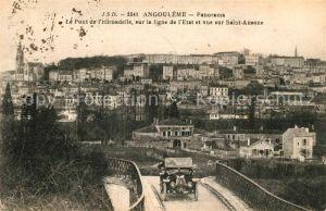 AK / Ansichtskarte Angouleme Ponte de l`Hirondelle sur la ligne de l`Etat Kat. Angouleme