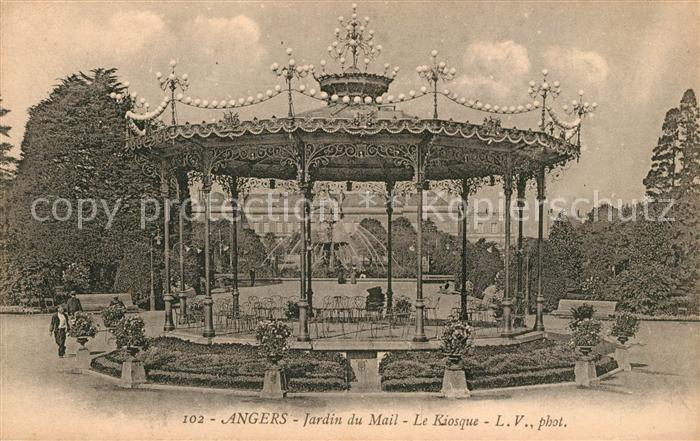 AK / Ansichtskarte Angers Jardin du Mail Kiosque Kat. Angers Nr ...