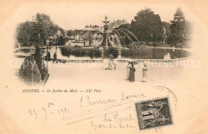 AK / Ansichtskarte Angers Le Jardin du Mail Kat. Angers Nr. sa43055 ...
