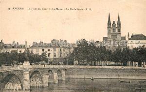 AK / Ansichtskarte Angers Pont du Centre La Maine et Cathedrale Kat. Angers