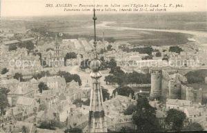 AK / Ansichtskarte Angers Panorama pris en ballon vers Eglise St. Laud Kat. Angers
