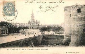 AK / Ansichtskarte Angers Place du l`Academie Eglise Saint Laud Kat. Angers