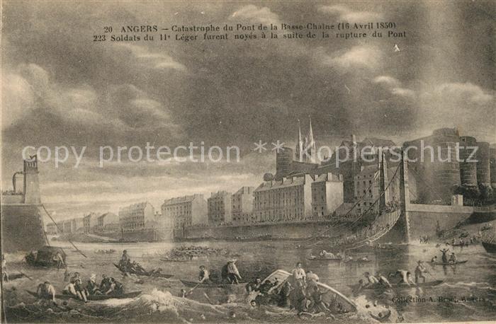 AK / Ansichtskarte Angers Catastrophe du Pont de la Basse Chaine Kat. Angers