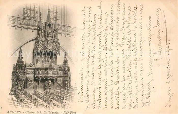 AK / Ansichtskarte Angers Chaire de la Cathedrale Kat. Angers