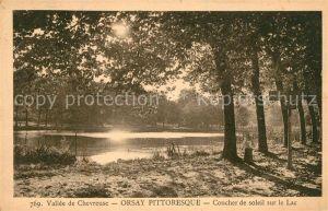 AK / Ansichtskarte Orsay Essonne Vallee de Chevreuse Coucher de soleil sur le Lac Kat. Orsay