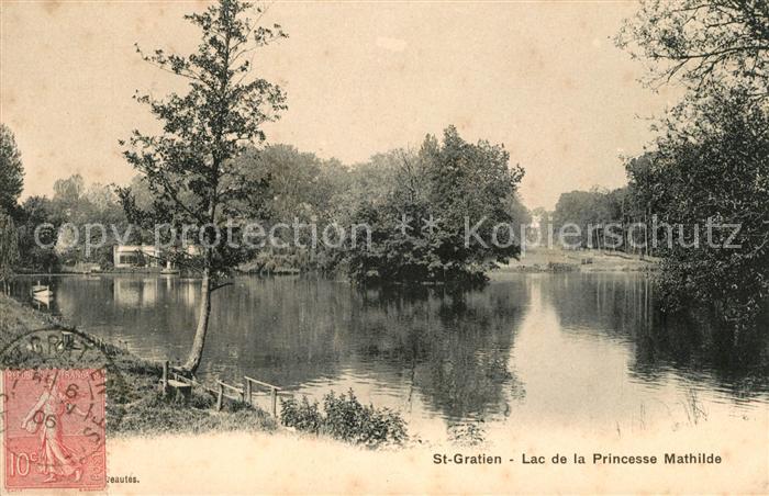 AK / Ansichtskarte Saint Gratien Oise Lac de la Princesse Mathilde Kat. Saint Gratien