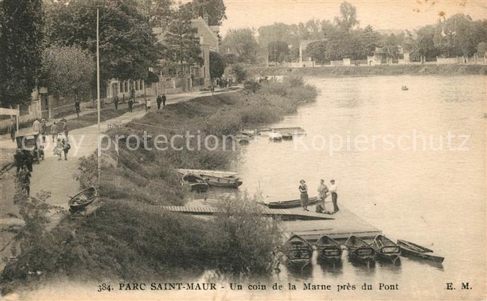 AK / Ansichtskarte Saint Maur des Fosses Parc Coin de la Marne pres du Pont Kat. Saint Maur des Fosses