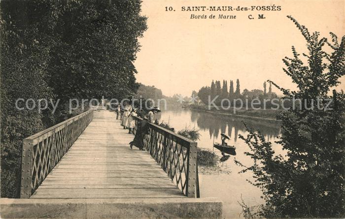 AK / Ansichtskarte Saint Maur des Fosses Bords de Marne Kat. Saint Maur des Fosses