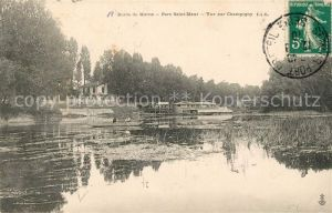 AK / Ansichtskarte Saint Maur des Fosses Parc Bords de Marne vue sur Champigny Kat. Saint Maur des Fosses