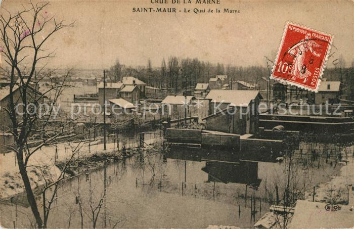 AK / Ansichtskarte Saint Maur des Fosses Quai de la Marne en hiver Kat. Saint Maur des Fosses