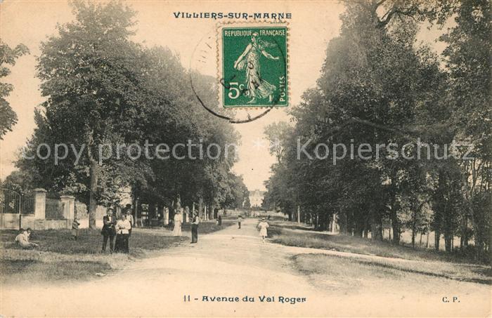 AK / Ansichtskarte Villiers sur Marne Avenue du Val Roger Kat. Villiers sur Marne