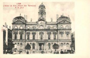 AK / Ansichtskarte Lyon France Hotel de Ville Place des Terreaux Kat. Lyon