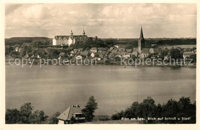 AK / Ansichtskarte Ploen See Panorama Schloss Kat. Ploen