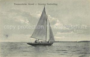 AK / Ansichtskarte Timmendorfer Strand Panorama Segelboot Kat. Timmendorfer Strand
