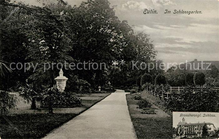 AK / Ansichtskarte Eutin Im Schlossgarten Grossherzogl Schloss Kat. Eutin