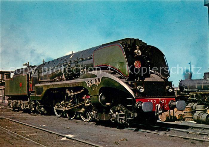 AK / Ansichtskarte Lokomotive Locomotive 232 U 1 SNCF Mulhouse  Kat. Eisenbahn