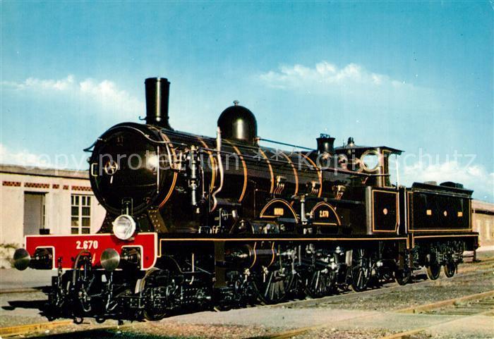 AK / Ansichtskarte Lokomotive Locomotive Atlantic 2.670 Nord Mulhouse  Kat. Eisenbahn