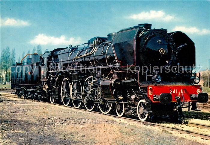AK / Ansichtskarte Lokomotive Locomotive 241 A 1 Mulhouse  Kat. Eisenbahn