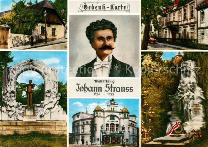 AK / Ansichtskarte Strauss Johann Strauss Landhaus Salmannsdorf Strauss Villa Hietzing Volksoper Wien Kat. Komponist