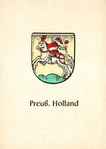 AK / Ansichtskarte Wappen Preussisch Holland Kat. Heraldik