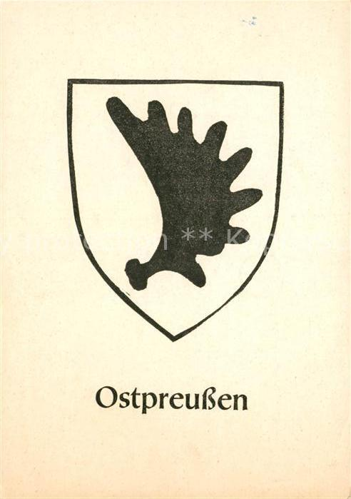 AK / Ansichtskarte Wappen Ostpreussen  Kat. Heraldik