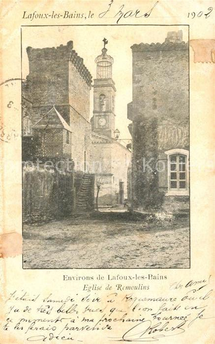 AK / Ansichtskarte Lafoux les Bains Eglise de Remoulins