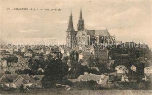 AK / Ansichtskarte Chartres Eure et Loir Vue generale Cathedrale Kat. Chartres