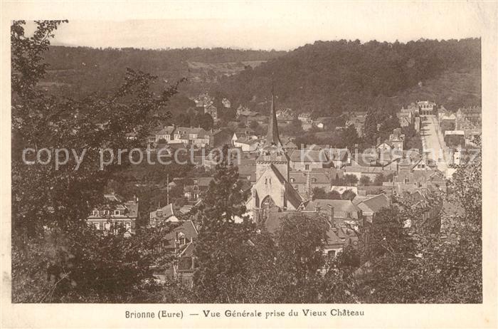 AK / Ansichtskarte Brionne Vue genereale prise du Vieux Chateaux Kat. Brionne