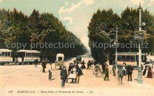 Marseille Bouches du Rhone Rond Point et Promenade du Prado
