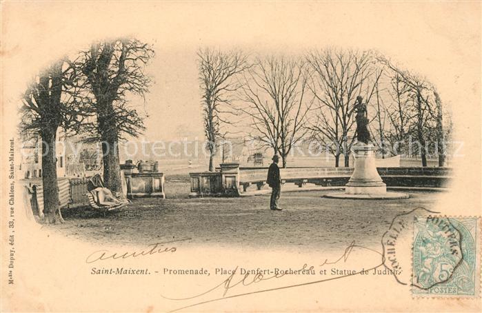 Saint Maixent l Ecole Promenade Place Denfert Rochereau et Statue de Judith Kat. Saint Maixent l Ecole