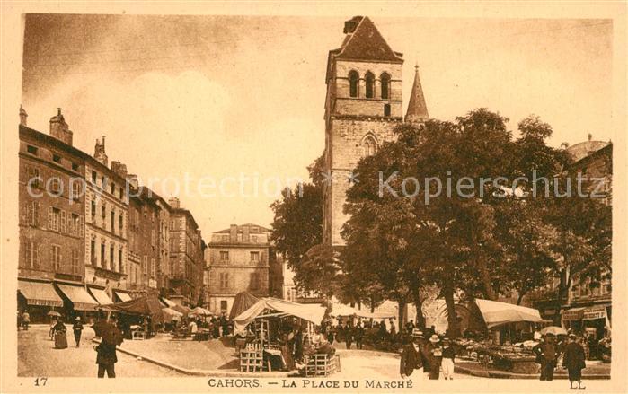 Cahors La Place du Marche Kat. Cahors