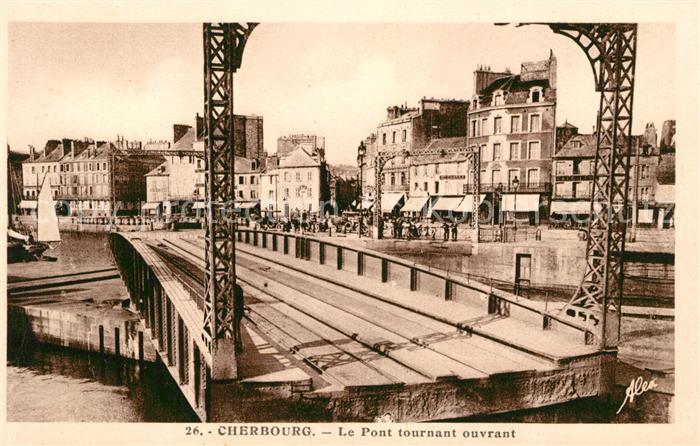 Cherbourg Octeville Basse Normandie Le Pont tournant ouvrant Kat. Cherbourg Octeville