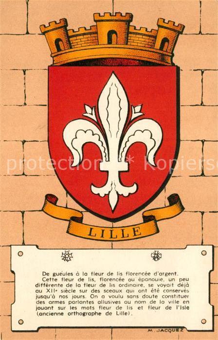Lille Nord Heraldique des Villes de France Kat. Lille