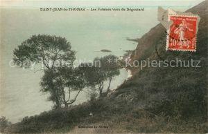 AK / Ansichtskarte Saint Jean le Thomas Les Falaises vues du Degoutard Kat. Saint Jean le Thomas