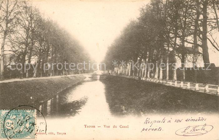 AK / Ansichtskarte Troyes Aube Vue du Canal Kat. Troyes