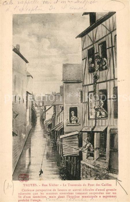 AK / Ansichtskarte Troyes Aube Rue Kleber Le Traversin du Pont des Cailles Kat. Troyes