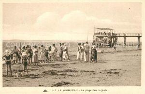 AK / Ansichtskarte Le Moulleau La plage vers la jetee Kat. La Teste de Buch