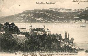 AK / Ansichtskarte Aix les Bains Abbaye de Hautecombe et Lac du Bourget Kat. Aix les Bains