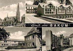 AK / Ansichtskarte Bakum Vechta Kirche Stadtansichten Kat. Bakum