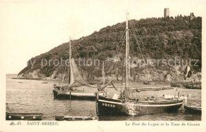 AK / Ansichtskarte Saint Brieuc Cotes d Armor Port du Legue et la Tour de Cesson Bateau Kat. Saint Brieuc