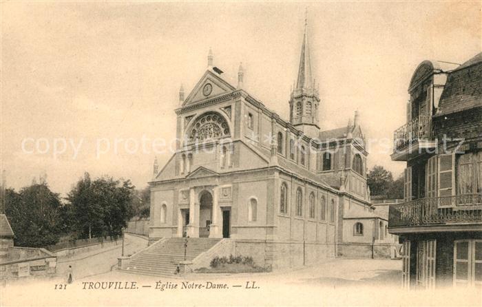 AK / Ansichtskarte Trouville sur Mer Eglise Notre Dame Kat. Trouville sur Mer