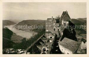AK / Ansichtskarte Aggstein Niederoesterreich Burgruine Panorama Blick ueber die Donau