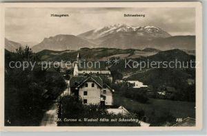 AK / Ansichtskarte St Corona Wechsel Panorama mit Schneeberg Kat. St. Corona am Wechsel
