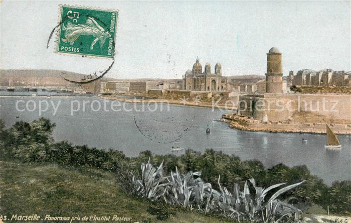 AK / Ansichtskarte Marseille Bouches du Rhone Panorama pris de l'Institut Pasteur