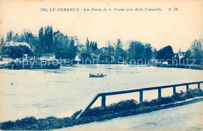 AK / Ansichtskarte Le Perreux sur Marne Les Bords de la Marne pres de la Passerelle Kat. Le Perreux sur Marne