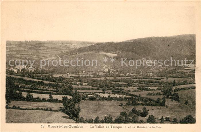 AK / Ansichtskarte Quarre les Tombes La Vallee de Trinquelin et la Montagne brulee Kat. Quarre les Tombes