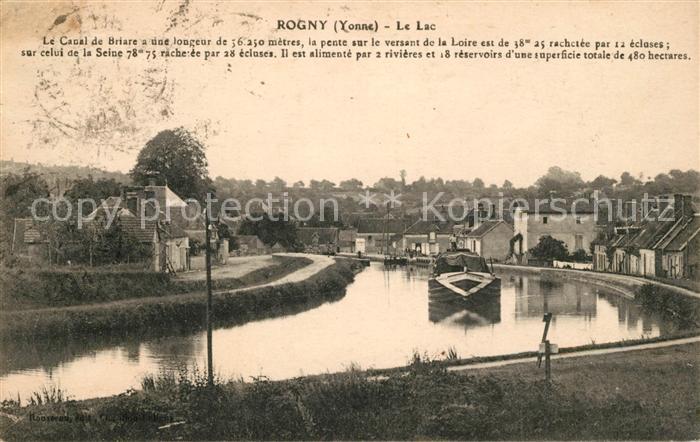 AK / Ansichtskarte Rogny les Sept Ecluses Le canal de Briare Kat. Rogny les Sept Ecluses