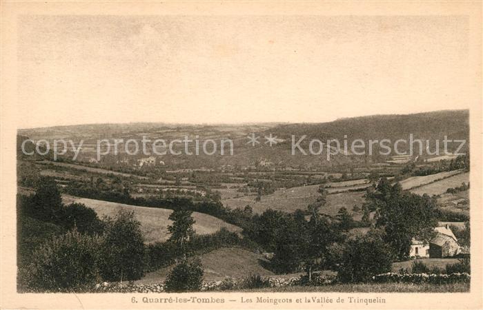 AK / Ansichtskarte Quarre les Tombes Les Moingeots et la Vallee de Trinquelin Kat. Quarre les Tombes
