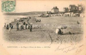 AK / Ansichtskarte Saint Pair sur Mer La Plage a l'Heure des Bains Kat. Saint Pair sur Mer
